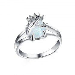 Fashion Hollow Opal  Gemstone Ring -