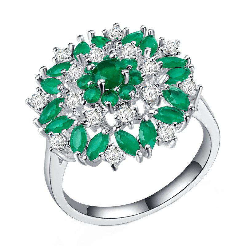 New Artificial Diamond Flower Hollow Ring