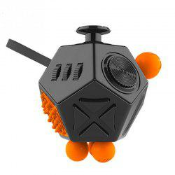 12 Side Magic Fidget Cube Strange Shape Stress Relief Puzzles Plastic Desk Toy -