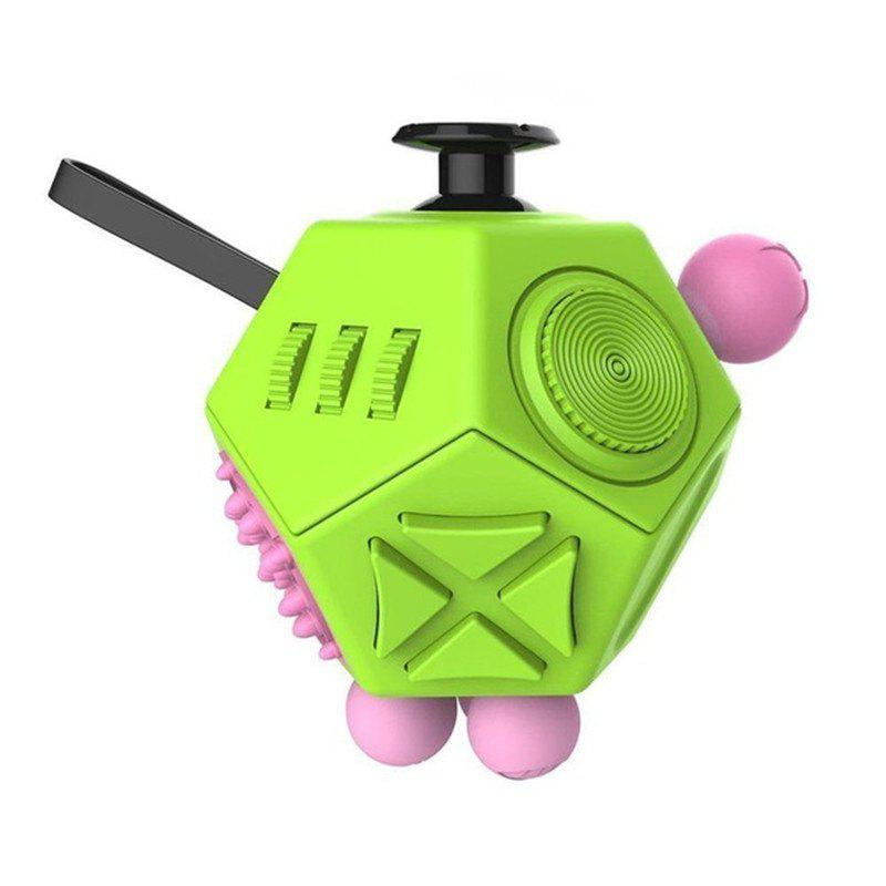 Chic 12 Side Magic Fidget Cube Strange Shape Stress Relief Puzzles Plastic Desk Toy