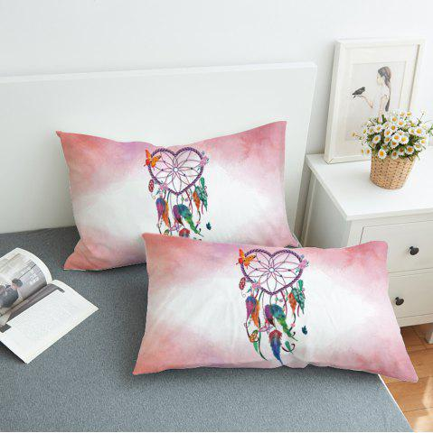 Shop 2Pcs Dreamcacher Decorative Feathers Print Pillow Case