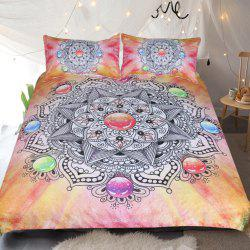 Crystal Gemstone Bedding Duvet Cover Set Digital Print 3pcs -