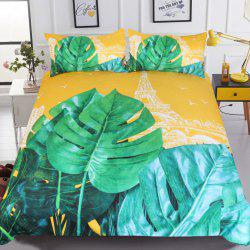 Plant Bedding France Towe Duvet Cover Set Digital Print 3pcs -