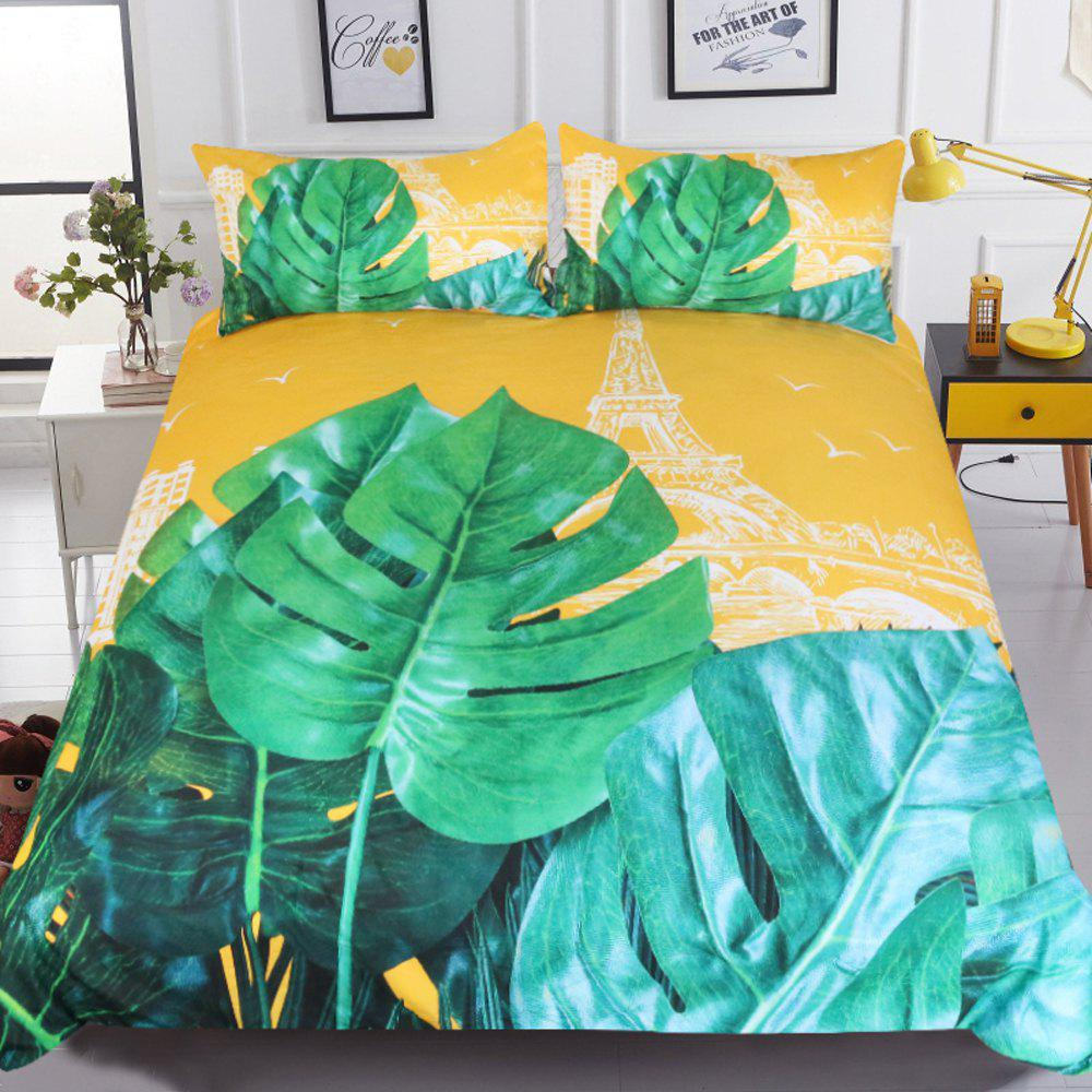 Latest Plant Bedding France Towe Duvet Cover Set Digital Print 3pcs