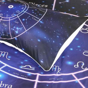 Twelve Constellations Literie Housse de couette Set Digital Print 3pcs -