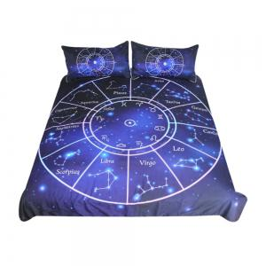 Twelve Constellations Bedding Duvet Cover Set Digital Print 3pcs -