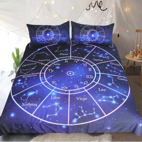 Twelve Constellations Literie Housse de couette Set Digital Print 3pcs
