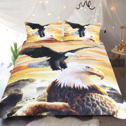Eagles Bedding Duvet Cover Set 3D Sea Digital Print 3pcs -