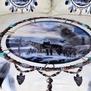 Dreamcatcher Bedding 3D Wolf Duvet Cover Set Digital Print 3pcs -