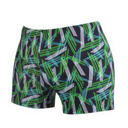 Men Skin-Tight Boxer Swimming Trunks -