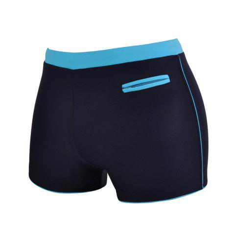 Unique Man Quick-Drying Breathable Boxer Swimming Trunks
