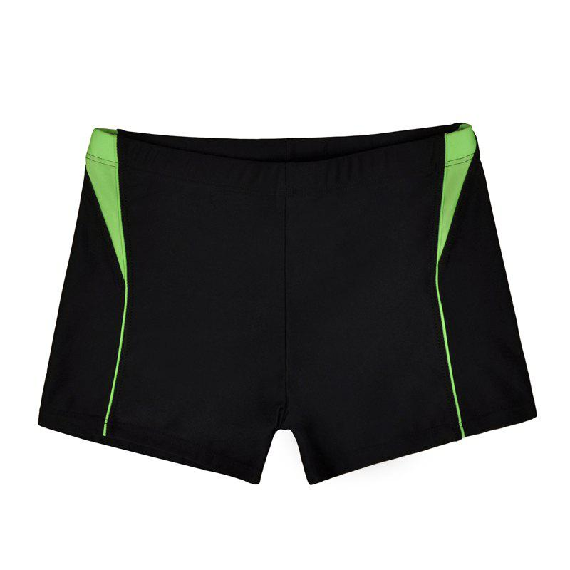 Fancy Men Breathable Comfortable Tight Boxer Swimming Trunks