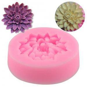 3D Lotus Flower Fondant Cake Mold Candy Sugar Craft Cutter Baking Tool -