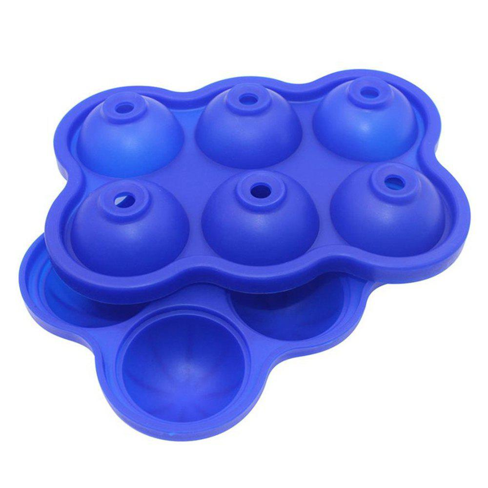 Discount 2pcs 6 Hole Silicone Whiskey Ice Hockey Mold Cube Tray DIY Bar Kitchen Tool