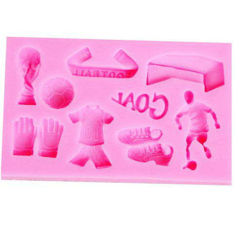 Fashion Football Theme Silicone Fondant Mold Cake Chocolate Candy Decoration Tool