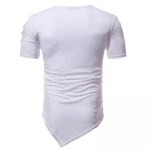 Men's Fashion Holes Short Sleeve T-shirt -
