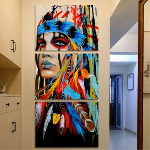 Art Indian and Decorative Oil Painting 3PCS -