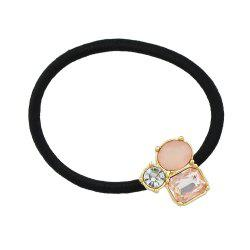 Pink White Black Rhinestone Decoration Headband Headwear -