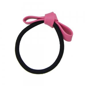 Black Elastic Rope Bowknot Shape PU Headbands -