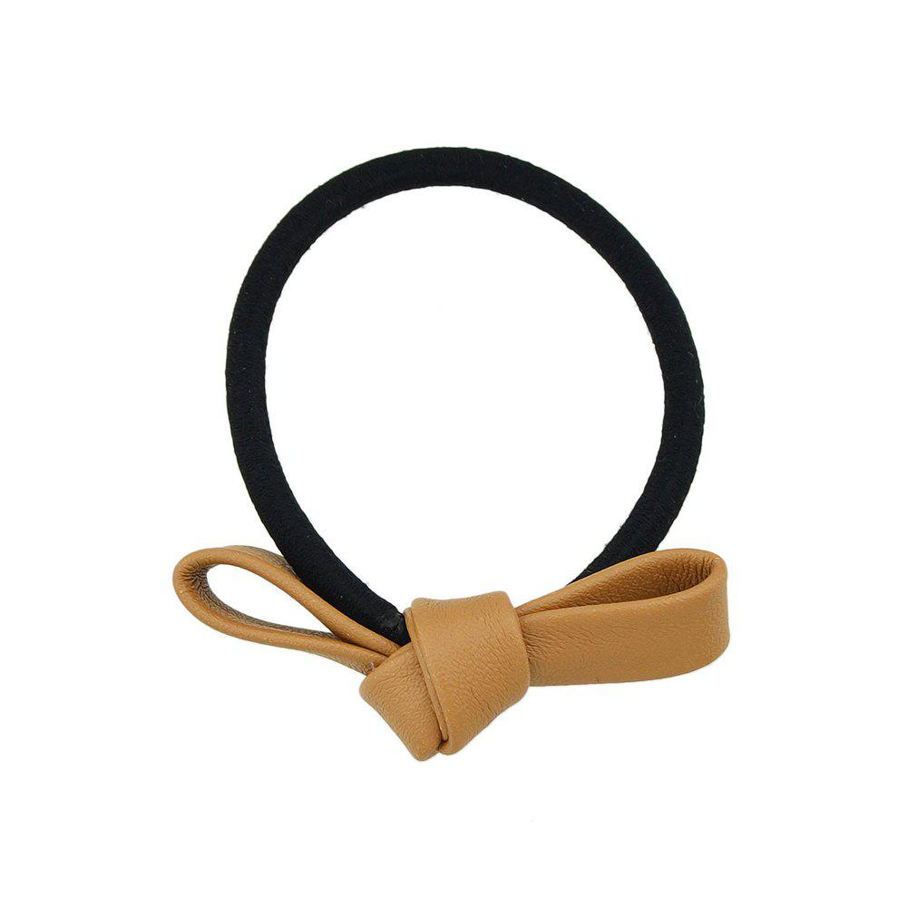 New Black Elastic Rope Bowknot Shape PU Headbands