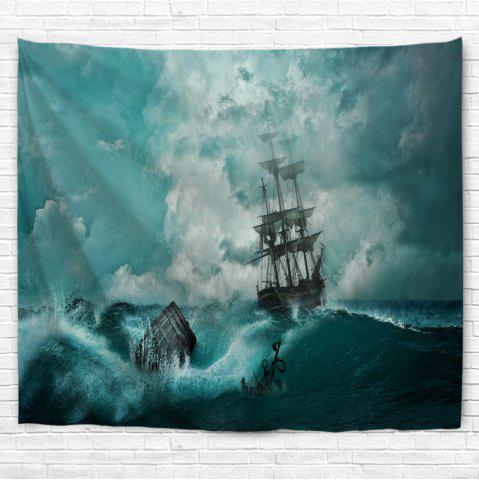 Online Cyan Waves 3D Printing Home Wall Hanging Tapestry for Decoration