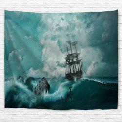 Cyan Waves 3D Printing Home Wall Hanging Tapestry for Decoration -