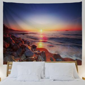 Seaside Stone Heap 3D Printing Home Wall Hanging Tapestry for Decoration -