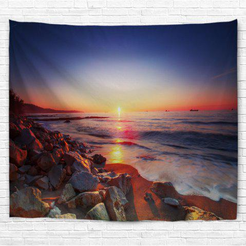 Unique Seaside Stone Heap 3D Printing Home Wall Hanging Tapestry for Decoration