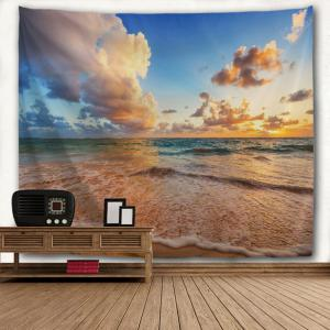 Blue Sea Beach 3D Printing Home Wall Hanging Tapestry for Decoration -