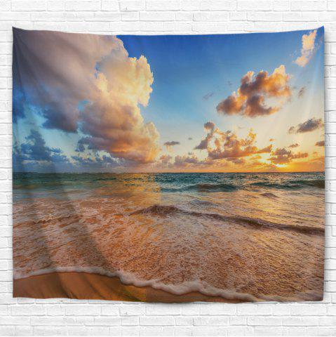 Discount Blue Sea Beach 3D Printing Home Wall Hanging Tapestry for Decoration