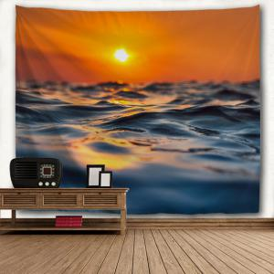 Sea Surface Micro Wave 3D Printing Home Wall Hanging Tapestry for Decoration -