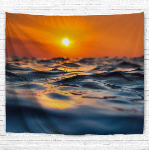 Fancy Sea Surface Micro Wave 3D Printing Home Wall Hanging Tapestry for Decoration