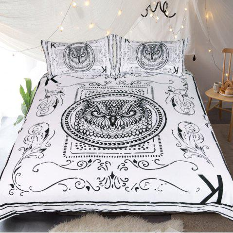 Store Owl Bedding  Animal Card Printed Duvet Cover Set 3pcs