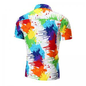 Personality Colorful Short-sleeved Shirt -