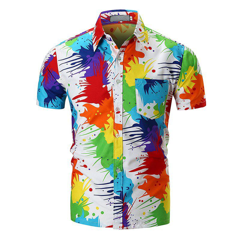 Shops Personality Colorful Short-sleeved Shirt