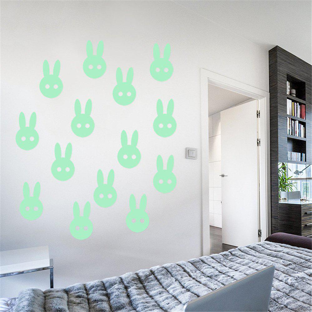 Chic Noctilucent Engraving Adorable Rabbit Cartoon Switch Wall Sticker
