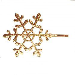 New Europe and The United States Simple Metal Hollow Snowflake Hairpin -