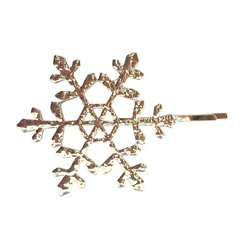 Best New Europe and The United States Simple Metal Hollow Snowflake Hairpin