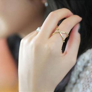 X Shape Cross Stereo Hollows Unique Personality Rings Accessories -