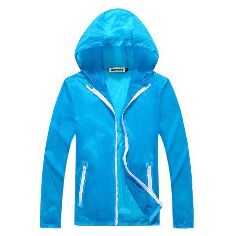 Shop Men and Women Summer Thin Skin Clothes Dry Exercise Sun Protection Jacket