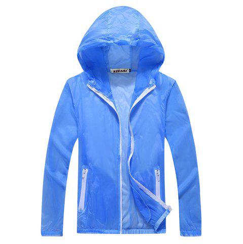 Trendy Men and Women Summer Thin Skin Clothes Dry Exercise Sun Protection Jacket