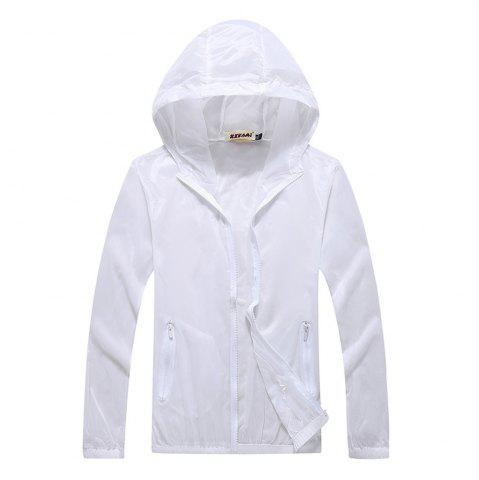 Chic Men and Women Summer Thin Skin Clothes Dry Exercise Sun Protection Jacket