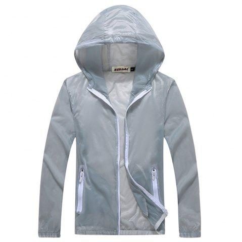 New Men and Women Summer Thin Skin Clothes Dry Exercise Sun Protection Jacket