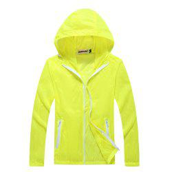 Men and Women Summer Thin Skin Clothes Dry Exercise Sun Protection Jacket -