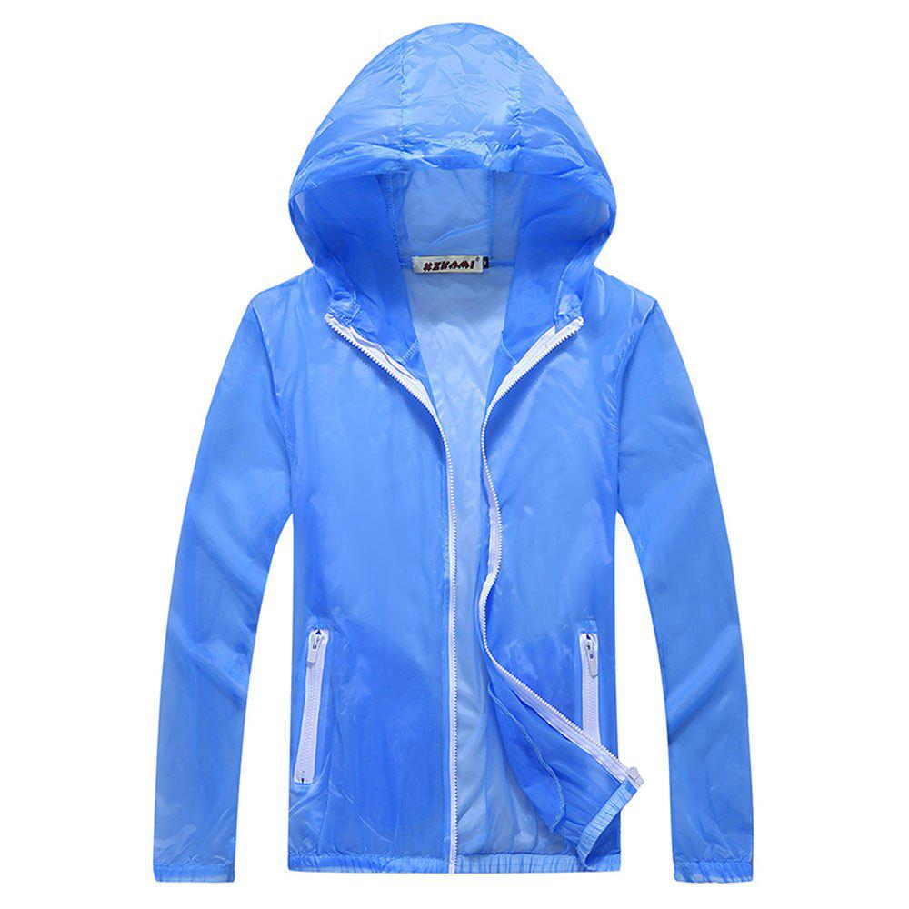 Fancy Men and Women Summer Thin Skin Clothes Dry Exercise Sun Protection Jacket