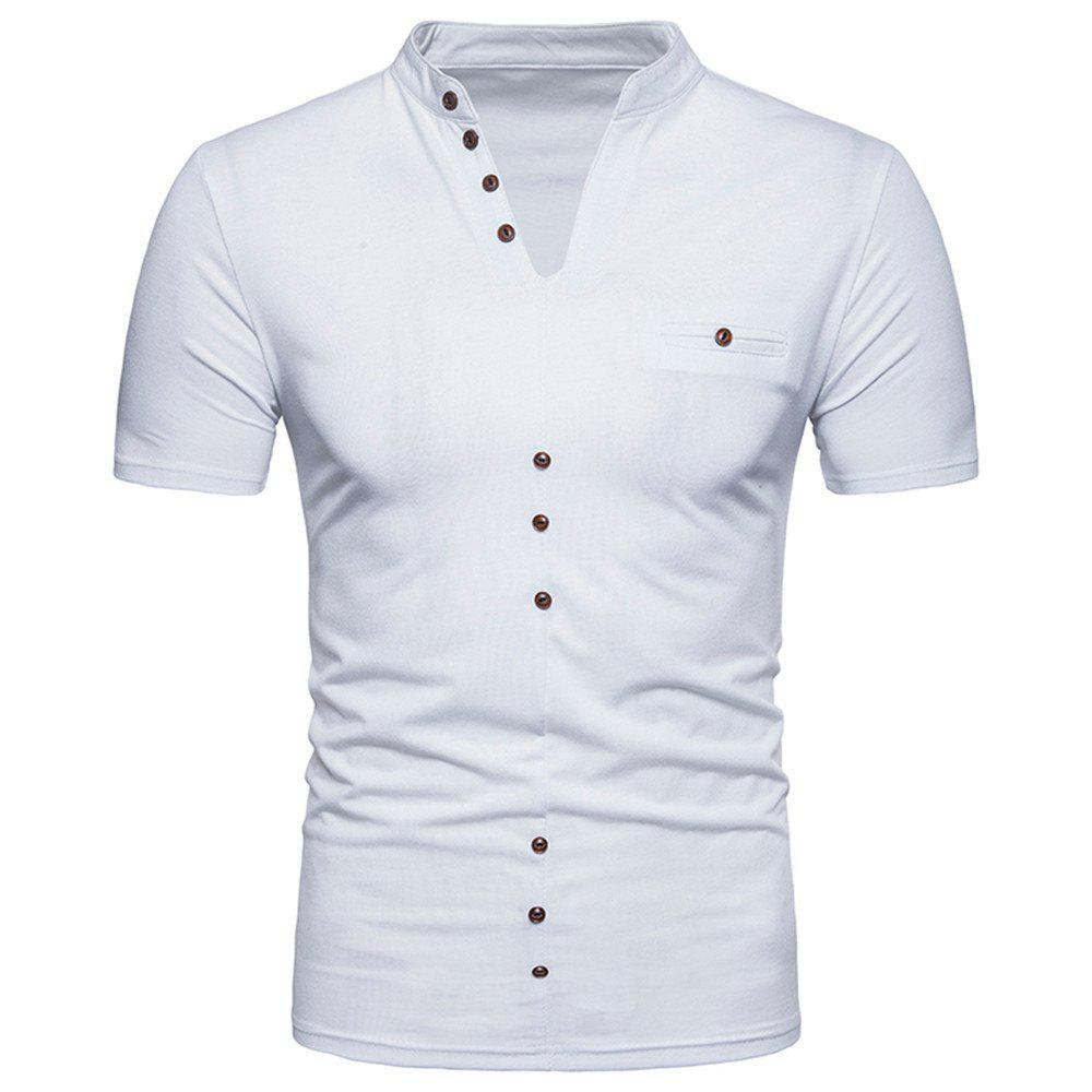New New Men's Large Size Fold Short-Sleeved T-Shirt