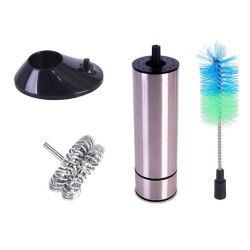 Electric Milk Frother Battery Operated Foam Maker with Whisk / Cleaning Brush -