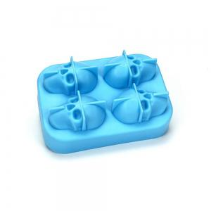 3D Skull Silicone Ice Cube Mold Chocolate Tray with Lid for Whiskey Wine Tool -