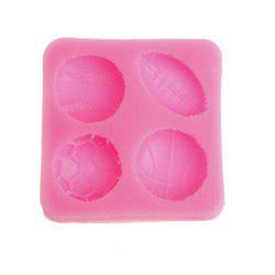 Silicone Ball Mold Football Basketball Rugby Tennis Cake Decorating Tool -