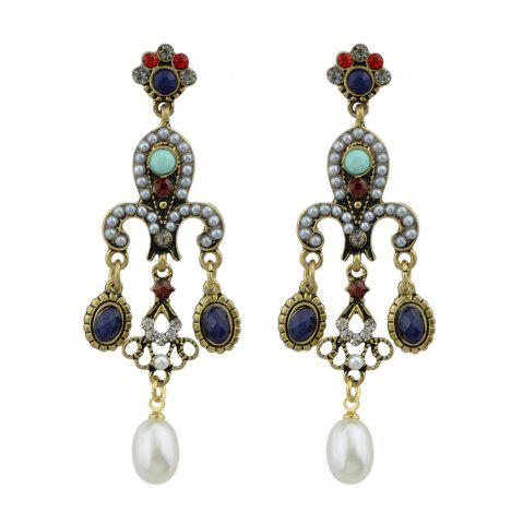 Latest Palace Style Colorful Beads Dangle Earrings